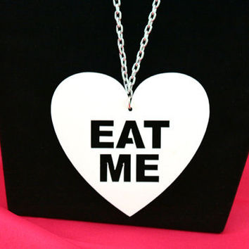 Alice in Wonderland Eat Me Necklace