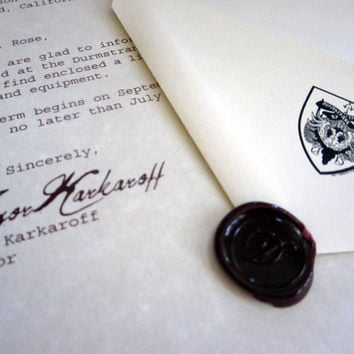 Durmstrang Acceptance Letter Personalized
