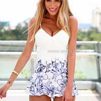 BLUE JASMINE RUFFLE PLAYSUIT , DRESSES, TOPS, BOTTOMS, JACKETS & JUMPERS, ACCESSORIES, $10 SPRING SALE, PRE ORDER, NEW ARRIVALS, PLAYSUIT, GIFT VOUCHER, $30 AND UNDER SALE,,JUMPSUIT Australia, Queensland, Brisbane
