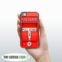 iPhone 4 Case Fire Alarm  / Hard Case For iPhone 4 and iPhone 4S Fire Pull Alarm Great For Firefighters Plastic or Rubber Trim