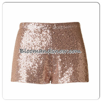 Sequin Champagne Shorts