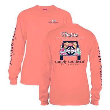 "Simply Southern ""Let's Be Besties"" Long Sleeve Shirts"
