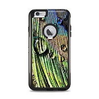 The Watered Peacock Detail Apple iPhone 6 Plus Otterbox Commuter Case Skin Set