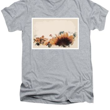 Wildlife Series - Sunflowers - Men's V-Neck T-Shirt
