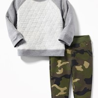 2-Piece Fleece Sweatshirt and Leggings Set for Baby | Old Navy