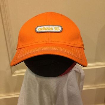 ESBONG6 Adidas Hat snapback one size fits all classic baseball cap orange grey