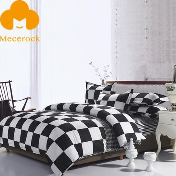 Black White Plaid Bedding Set