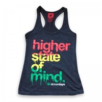 WOMEN'S RASTA HIGHER STATE OF MIND RACERBACK
