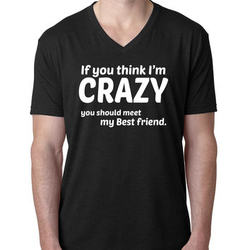 If you think I'm crazy you should see my bestfriend V Neck T Shirt