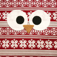 Christmas - Winter - Holiday - Owl Pillow - Large - Small - Choose from Multiple Patterns - Seasonal - Limited Time!