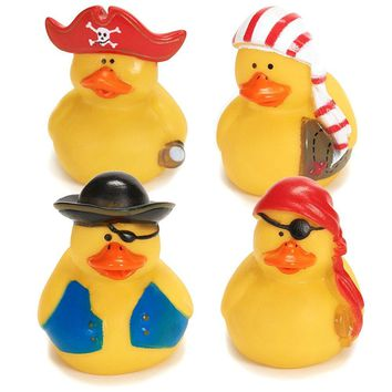 Fun Express 12 Mini Pirate Rubber Ducks Duckie Ducky Party Favors Novelty (1 Do