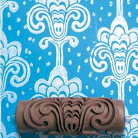 Patterned paint roller in Grand Damask design by NotWallpaper