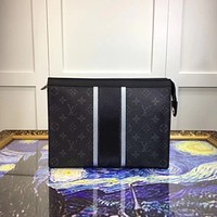 LV Louis Vuitton MEN MONOGRAM POCHETTE VOYAGE MM HAND BAG