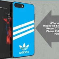 Best Blue Adidas.2k18 Stripe Logo Hard Case For iPhone 6 6s 7 8 Plus X Cover +