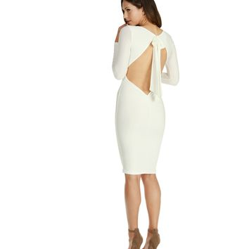 White Diamond Midi Dress
