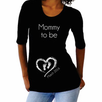 "Personalized Shirt ""Mommy to be""- Maternity Wear"