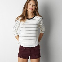 AEO SOFT & SEXY STRIPED BASEBALL T-SHIRT