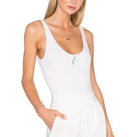 House of Harlow 1960 x REVOLVE Wren Tank Bodysuit in Ivory