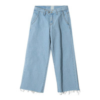 Double Button Rugged Jeans