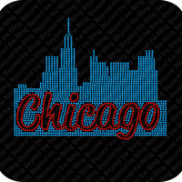 Chicago skyline rhinestone bling shirt Chicago rhinestone bling shirt Chicago bling shirt Chicago skyline rhinestone shirt Chi town bling