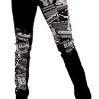 Punk Rock Indie Emo Party Black Stretch Scandal Skinny Jean
