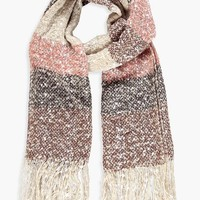 Mia Brushed Stripe Oversized Scarf | Boohoo