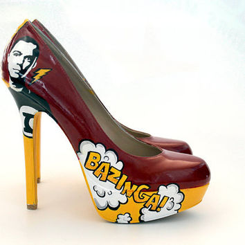 Big Bang Theory-Inspired Comic Heels