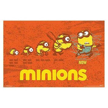 CREYON Minions - Evolution 24in X 36in Wall Art Poster