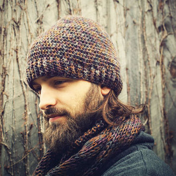 Handmade Crocheted Beanie Hat, Unisex, Women's Hat, Mens Hat, Winter Hat, Hippie Hat,Warm Hat, Mens Warm Winter Hat,Mens Accessories,