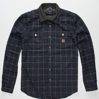 Roark Nordsman Mens Flannel Shirt Black  In Sizes