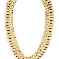 Stud & Chain Collar Necklace by Charlotte Russe - Gold