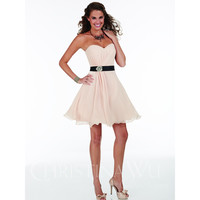 Christina Wu Occasions 22589 Short Strapless Sweetheart Neckline Bridesmaid Dress