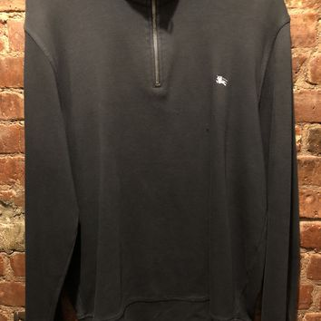 Burberry Brit 1/4 Zip-Up Black Pre-Owned