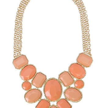 Candied Peach Necklace