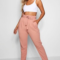 Plus Paperbag Tapered Trouser | Boohoo