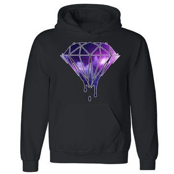 "Zexpa Apparelâ""¢ Galaxy Diamond Dripping Melting Bleeding Unisex Hoodie Dope Hooded Sweatshirt"