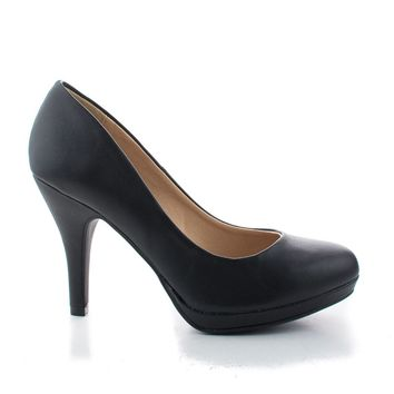 Jack by City Classified Comfortable Foam Padded Round Toe Classic High Heel Pump