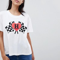 Tommy Hilfiger Heart Flag T-Shirt at asos.com