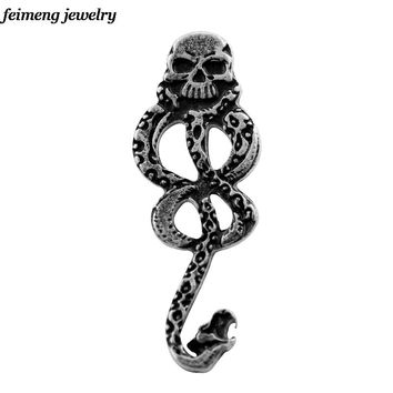 New Punk Style Lord Voldemort Brooch Death Eaters Nagini Movie Jewelry Accessories Vintage Horcrux Brooch Pin Women Men