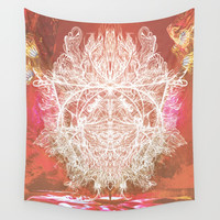 The Burning Summit Wall Tapestry by J.Lauren