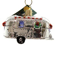 Old World Christmas VINTAGE TRAILER Glass Travel Home Vacation 46053