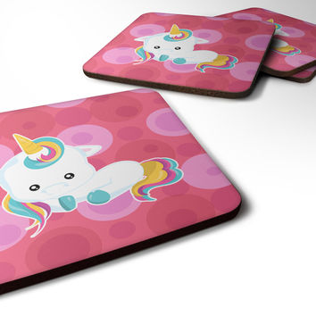 Polkadots Unicorn Foam Coaster Set of 4 BB6810FC