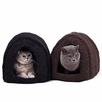 5 Colors Cotton Dog Cat Bed Kitten Cave Warm House Soft Home Pet Bed Cute Nest For Puppy Indoor Outdoor