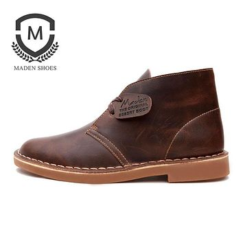 Maden Brand Winter New Warm Martin Boots Vintage Fashion Style High quality Snow Boots Non-slip High Quality Leather Ankle Boots