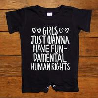 Girls Just Wanna Have Fundamental Human Rights -- Baby Onesuit