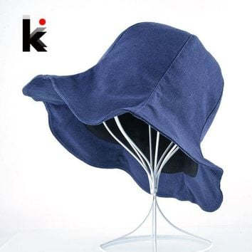 CUPUP9G Spring Summer Bucket Hats For Women Two Sides Available Floppy Sun Caps Girls Outdoors Casual Beach Visor Gorras Chapeu Feminino