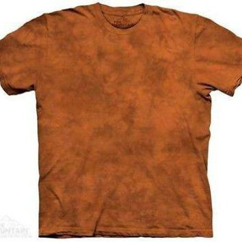 Mandarin Solid Color Orange Tie Dye T-Shirt