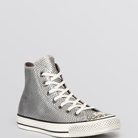 Converse Lace Up High Top Sneakers - Metallic