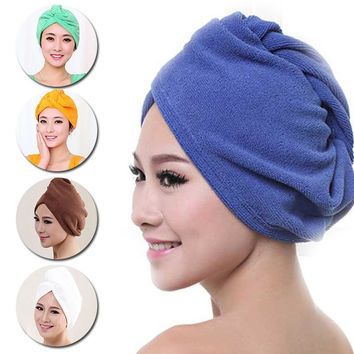 relefree Quick Dry Microfiber Towel Hair Magic l Hair Drying Towel Hat Cap Spa Bathing Fitness Hair band swimming Towels Useful