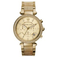 Parker Gold-Tone Horn Acetate Watch | Michael Kors